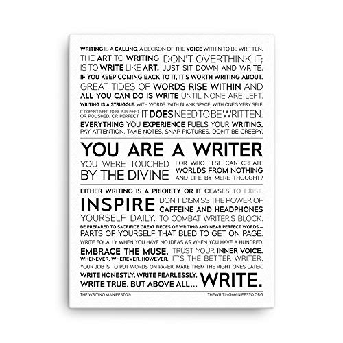 Writer Inspiration Premium Print - Inspirational Quotes for Authors, Poets & Wordsmiths to Increase Creativity & Overcome Writer's Block; Writing Poetry Wall Art; Gift for Writers; Glossy 18x24 Inches