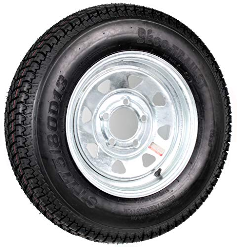 ST175/80D13 Loadstar Trailer Tire LRB on 5 Bolt Galvanized Spoke Wheel