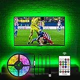 USB TV Hintergrundbeleuchtungs Kit für fernseher 60 65 Zoll, 4.5M USB LED Licht TV Monitor...