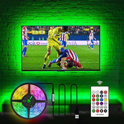 LED Strip 3.5m,Hamlite LED Streifen fernseher 50 55 zoll, USB TV Hintergrundbeleuchtungs RGB flexible led beleuchtung fernseher mit RF Fernbedienung, Verwendung für TV / PC
