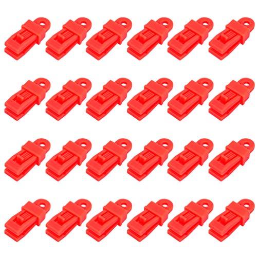 BESPORTBLE 48 Piezas Clips de Lona Abrazaderas de Lona para Trabajo Pesado Carpa con Agarre de Bloqueo Sujetadores de Toldo para Piscina Clips para Toldos para Acampar Al Aire Libre Toldos