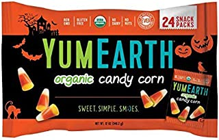 Organic Candy Corn - 24 Snack Packs - YUMEARTH - Halloween - Limited Edition - Organic - Gluten Free - Non GMO - Simple Ingredients - No Dairy - No Nuts - No High Frutose Corn Syrup - Dye Free