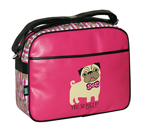 David & Goliath School College Boys Girls Childrens Incognito, You So Pugly Satchel Bag (You So Pugly DGYP7050PNK)