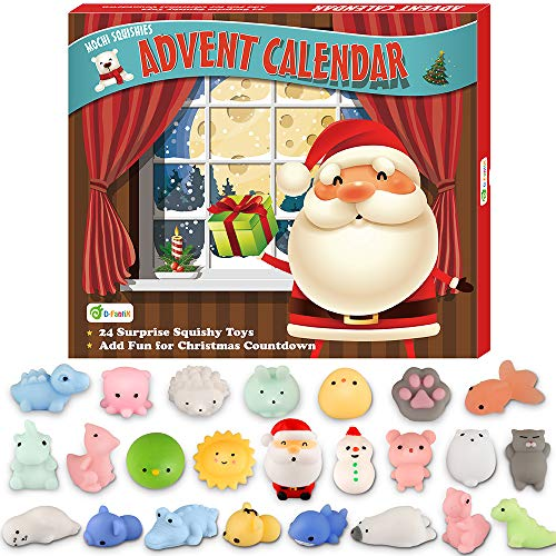 SQL Calendario de Adviento 2019 Cuenta atrás Calendario de la Navidad Juguetes 24 Unidades de Kawaii para aliviar el estrés de los Animales