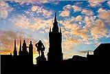 Poster 90 x 60 cm: Sunset in Halle/Saale von Martin