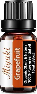 Miyuki Grapefruit Essential Oil Organic Plant & Natural 100% Pure Therapeutic Grade Aromatherapy Grapefruit Oil for Diffus...