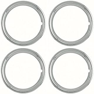 Coast to Coast IWC1514S Set of 4 Polished Stainless Steel 14 Inch 1-1/2 inch Beauty Trim Rings 1514S