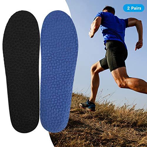 Cuque Plantilla Deportiva con absorción de transpiración, cojín para Zapatos, para Botas de Trabajo, Zapatos para Caminar, Correr y Casuales Mujer Hombre Correr(Male Size)