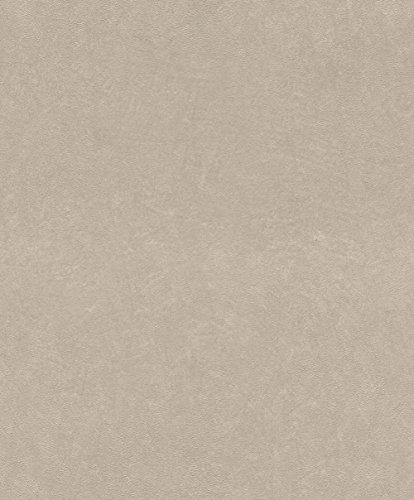 rasch Tapete 860108 aus der Kollektion b.b home passion VI – Einfarbige Vliestapete in Beige mit körniger Struktur – 10,05m x 53cm (L x B)