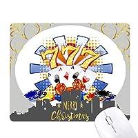 カジノのダイスポーカーチップのイラスト クリスマスイブのゴムマウスパッド