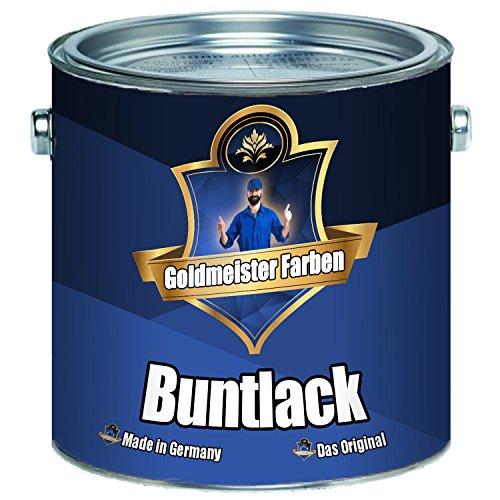 Goldmeister Farben Buntlack für Holz und Metallhochwertiger Kunstharzlack -schnelltrocknender -besonders robuster -universeller Farb-Lack (1 L, Lichtblau (RAL 5012))