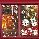 Pegatinas de Navidad, FoacMbem Pegatinas de Navidad para Ventanas, 6 Hojas...