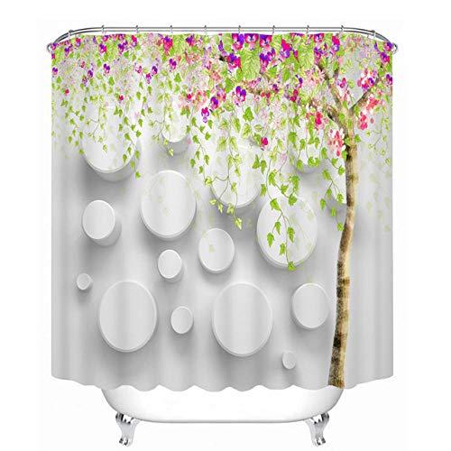 Brandless Pfirsichblüten Muster Duschvorhänge Sexy Rose Badezimmer Vorhang Wasserdicht verdickt Bad Vorhang-W180cm X h200cm