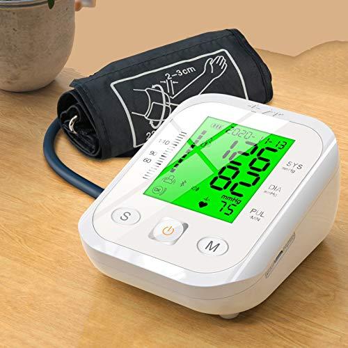 LTLGHY Tensiómetro De Brazo, Monitor De Presión Arterial Automático Y Detección De Latidos Irregulares Digital, Brazalete 22-32cm, Memoria 2 × 99, Pantalla LCD Retroiluminada