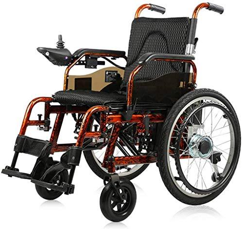 WXDP Autopropulsado Power, Medical Rehab Chair para Personas Mayores, Personas Mayores, eléctrico s Silla de Viaje de Movilidad de Seguridad con Andador eléctrico plegabl
