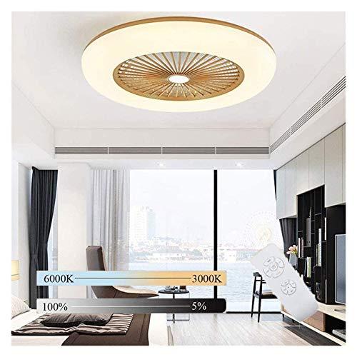 Ventilador de techo con iluminación, velocidad de techo de velocidad de viento ajustable con control remoto Luz de techo LED moderna 80W Ø55cm para comedor dormitorio, sala de estar,
