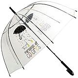 DONREGALOWEB Paraguas Transparente Mensaje Positivo bastón Plegable 85x84 cm (para días Grises...