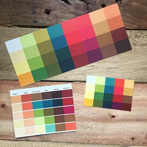 Set Großer und kleiner Farbpass, Make-Up-Pass Herbst, Herbsttyp, Farbkarte, Herbstfarben Herbsttyp,warmer Farbtyp, Farbfächer, Farbberatung, Typberatung, Farbkarten, Farbpalette