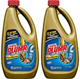 Liquid-Plumr Pro-Strength Full Clog Destroyer Plus PipeGuard, 32 oz Bottles - 2 Pack