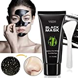 Black Mask - VKEN Blackhead Removal Charcoal Peel Off Mask with Brush Kit for Pore Oil Control