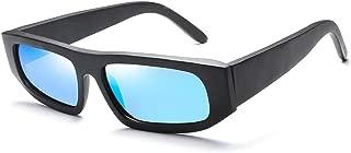 Fashion New Cycling Driving Men's Box Sunglasses UV Protection Sunglasses Fashion Sunglasses UV400 Retro (Color : Blue)