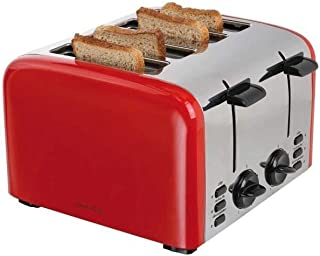 DOMOCLIP DOD153 Retro Electric Toaster - Red