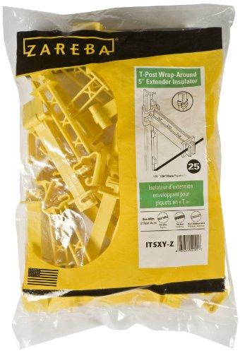 Zareba IT5XY-Z Snap-on 5-Inch Extender Insulator, 25 per Bag