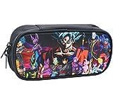 Dragon Ball Estuche de Lápices YUESEN Anime Multifunción lápiz Bolsa Grandes Espacios para Lapices Estudiante Cosméticos Papelería Bolsa para la Escuela Media, Oficina, Colegio 20cm*10cm*4.5cm