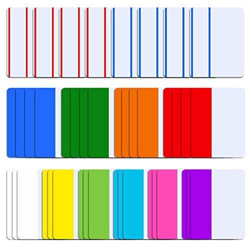 SIQUK 840 fichas de piezas de 2 pulgadas fichas adhesivas índice fichas de página marcadores de cinta de color marcador página pestañas, 21 conjuntos de 10 colores
