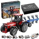 HEID Tractor teledirigido con tecnología CADA C61052W, modelo grande motorizado con 4 motores y mando a distancia, 1675 bloques de construcción compatibles con Lego Technic