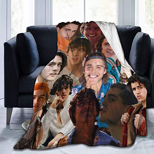 Charlie Gillespie Photo Collage Throw Blanket Suitable Ultra Soft Bedding Fleece Blanket for Sofa Bed Office 60'x50' for Adults Or Children's Sofa Or Bed