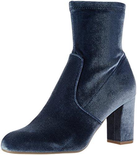 Steve Madden Damen Avenue Kurzschaft Stiefel, Blau (Blue Velvet), 37.5 EU (7 UK)