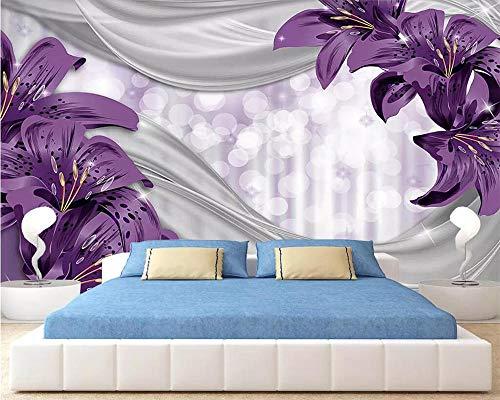 Nomte Aangepaste Behang Lelie Bloem Zijde Tuin Moderne Tv Bank Achtergrond Muur Woonkamer Slaapkamer Achtergrond 3D Behang 350x256cm
