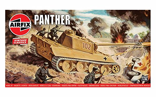 Airfix Quickbuild Vintage Classics Panther Tank 1:76 Military Ground Vehicle Plastic Model Kit A01302V