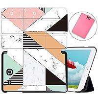 MAITTAO Galaxy Tab E 9.6 Case 2015 SM-T560/T561/T565/T567V, Slim Stand Folio Cover For Samsung Tab E Wi-Fi/Tab E Nook/Tab E Verizon 9.6-Inch Tablet Sleeve Bag 2 in 1 Bundle, Marble 15