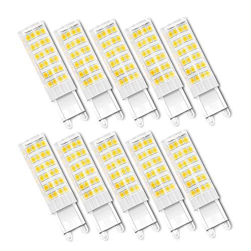 Lampadine LED G9 7W (Equivalenti a 65W) G9 Lampade a Risparmio Energetico, SMD2835 Bianca Calda 3000K, 650 Lumen, 360° Angolo Luminoso, Non Dimmerabile, Pacco da 10