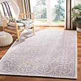 Safavieh Cambridge Collection CAM123D Handcrafted Moroccan Geometric Silver and Ivory Premium Wool...