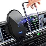 Wireless Car Charger Mount Auto Clamping, 15W Qi Fast Charging Air Vent Phone Holder Automatic Search Car Charger for iPhone 12Series/11Series/SE/8 Plus/8/X/XR/XS/Samsung Galaxy S20/S10/S9/Note10+ etc