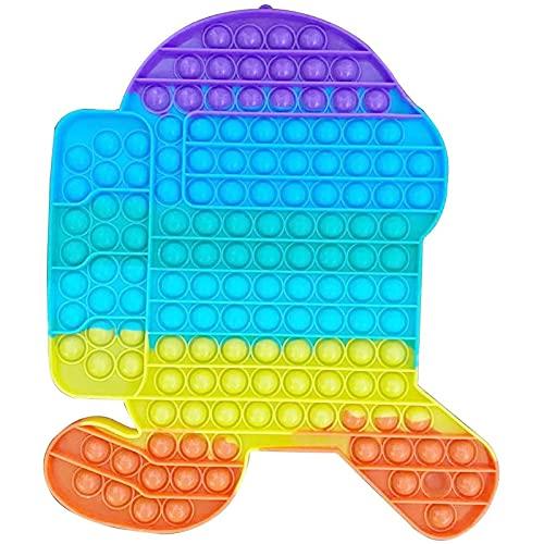Map Magnets Poppit Grande,Pop It Gigante,Fidget Toys Pop It,Jumbo Pop It Among Us, Push Pop Fidget Toybig Bubbles Rainbow, Enorme Juguete Push Pop Fidget, Push Pop Jumbo TAMAÑO