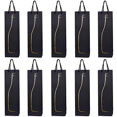 10 Flaschentüten Geschenktüten für Wein Prosecco und Champagner 40 x 12 x 9 cm Flaschen Silhouette
