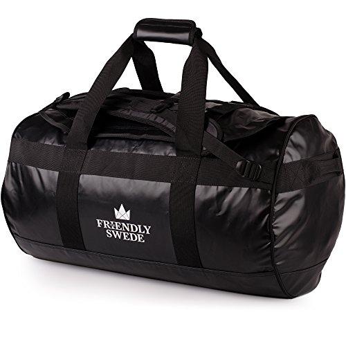 Borsone da Viaggio e Sport Convertibile in Zaino - Duffel Bag - The Friendly Swede (Nero 60L)