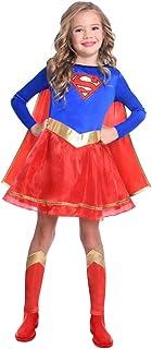 Disfraz de Warner Bros Supergirl clásico para niñas y niños (Edad: 6-8 años)