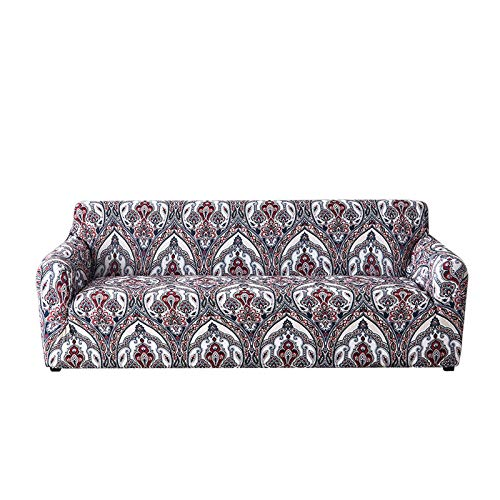 QSCV Elasticidad Funda Sofa Ajustables Mueble Protector,Poliéster Loveseat Funda Sofá,1 2 3 4-plazas Silla De Brazo Cubrir para Salon-1 2-Seater 145-185cm