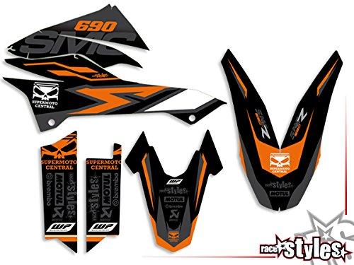 690 SMC SMC/R Enduro (08-17) | Factory DEKOR Decals KIT Aufkleber Graphics