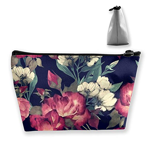 Trousse à maquillage portable Motif floral avec roses