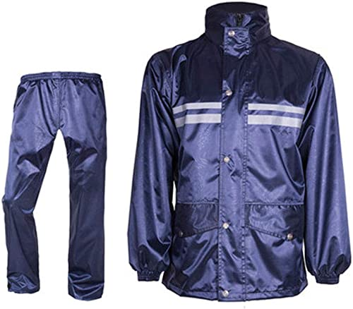 LYQQQQ Vestes Coupe Pluie Imperméable imperméable Pantalon de Costume Costume Split Split Adulte imperméable Imperméable (Couleur   Navy, Taille   L)