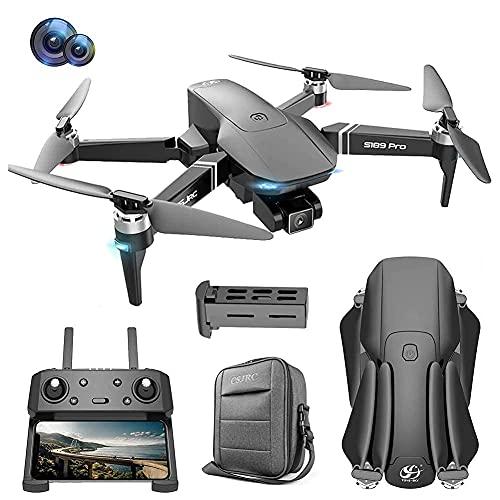 Drone 4K EIS con Fotocamera UHD per Adulti, Quadcopter GPS per Principianti Facile con 30 Minuti di Volo, Motore Senza spazzole, Trasmissione FPV 5 GHz, Ritorno Automatico a casa, Seguimi