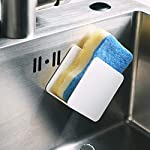Cabilock-Sponge-Holder-Punch-Free-Wall-Mounted-Soap-Dishes-Holder-Soap-Case-Kitchen-Sink-Drain-Rack-Kitchen-Organizer-for-Soap-Sponge-Scrubber-White