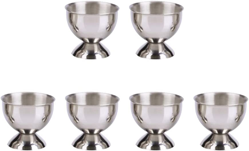 Hemoton 6pcs Egg Cup Stainless Portland Mall OFFicial site Steel Tray Hol Holder