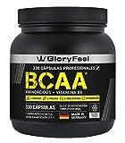 BCAA 330 Cápsulas - 9.910mg de BCAA por dosis diaria - Aminoácidos esenciales Leucina, Valina e Isoleucina + Vitamina B6 - Probado en laboratorios y sin aditivos - Fabricado en Alemania